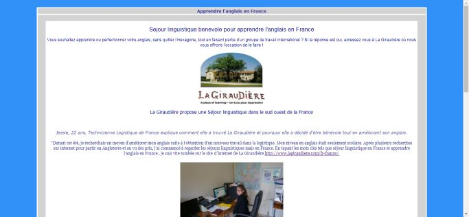 Apprendre l'anglaise en France
