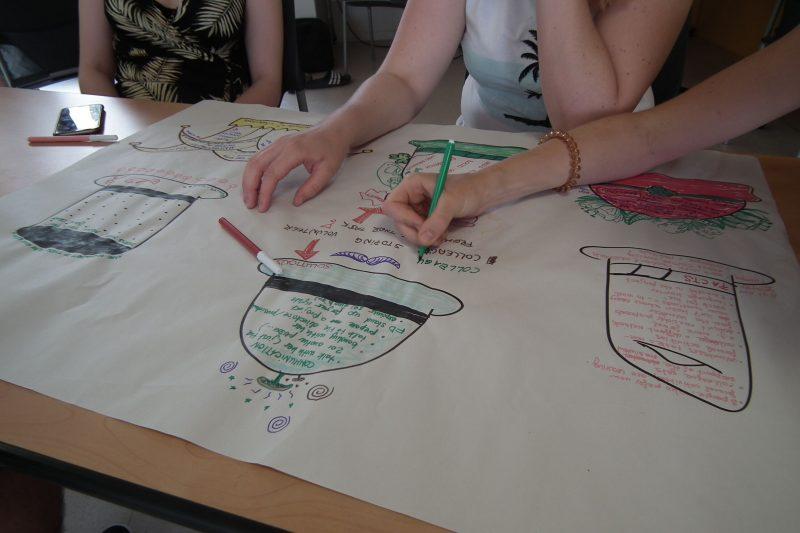 Volunteers in Narbonne exploring problem solving