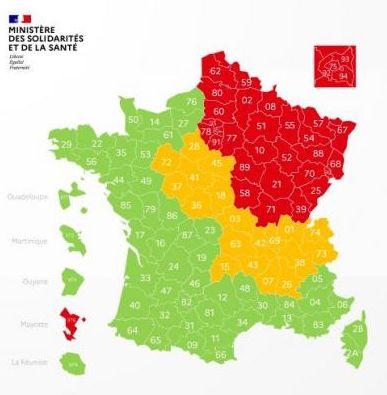 coronavirus in france map