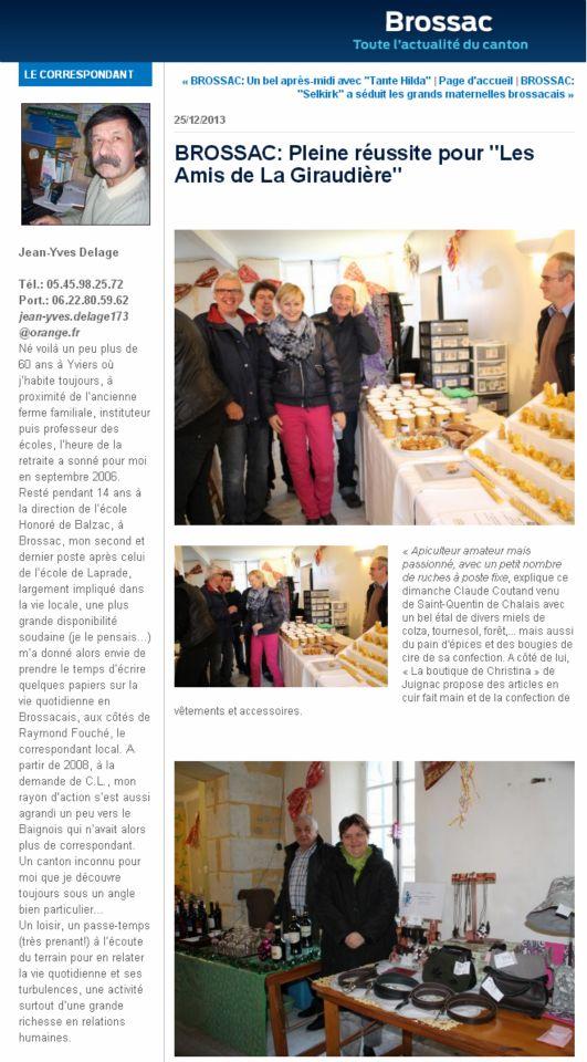 Press Charente Libre article