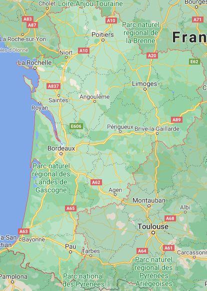 nouvelle aquitaine map